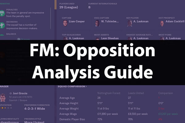 How To Analyse Opposition Guide – Football Manager 20