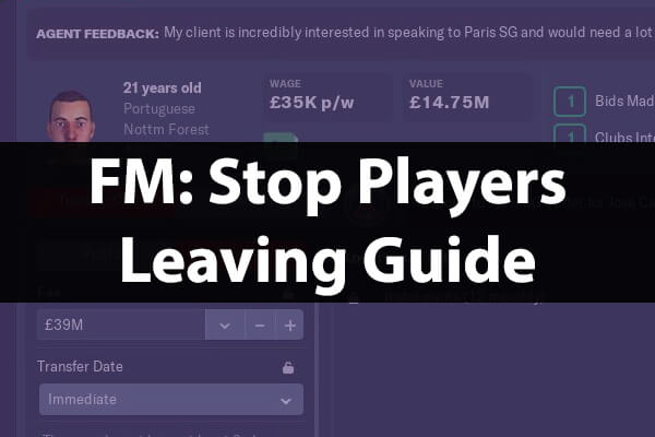Stop players leaving guide Football Manager