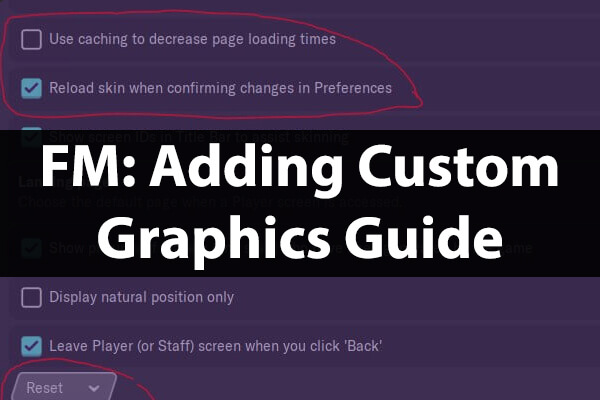 Adding custom graphics guide Football Manager