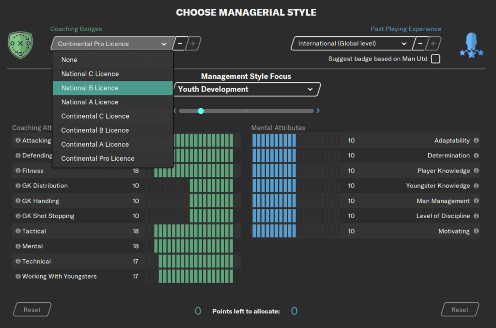 Choosing your managerial style Football Manager