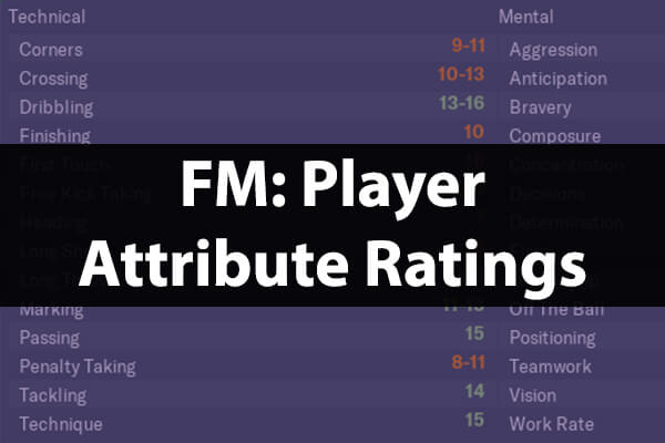 Player attribute ratings guide Football Manager
